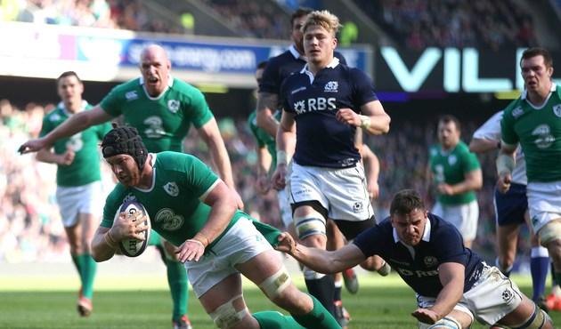 Sean O'Brien scores their second try 21/3/2015